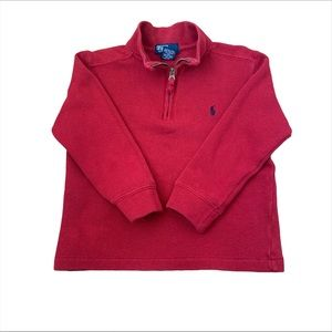 3/$25 Polo by Ralp Lauren half-zip cotton pullover